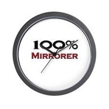 100 Percent Mirrorer Wall Clock