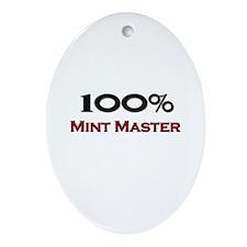100 Percent Mint Master Oval Ornament