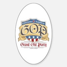 GOP Grand Old Party Oval Decal