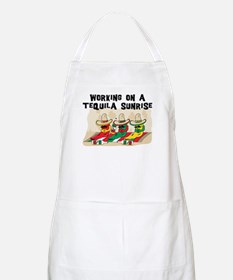 Working On A Tequila Sunrise BBQ Apron