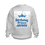 1st Birthday Prince - Jayden Kids Sweatshirt