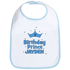 1st Birthday Prince - Jayden Bib