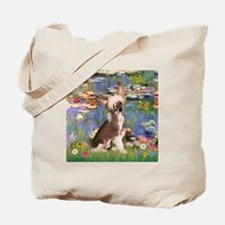 Lilies/Chinese Crested Tote Bag