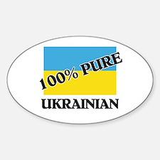 100 Percent UKRAINIAN Oval Decal