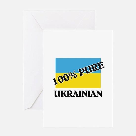 100 Percent UKRAINIAN Greeting Card
