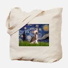 Starry Night/Chinese Crested Tote Bag