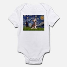 Starry Night/Chinese Crested Infant Bodysuit