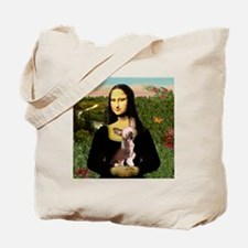 Mona Lisa Chinese Crested Tote Bag