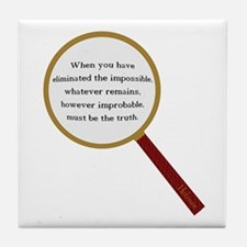 Holmes Quote Tile Coaster