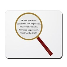 Holmes Quote Mousepad