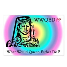 Purim Postcards (Package of 8) - WWQED? Rainbow