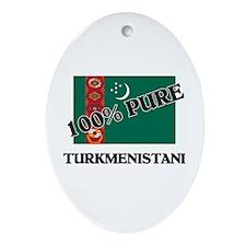 100 Percent TURKMENISTANI Oval Ornament