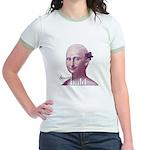 'Beautiful Bald Mona' Jr. Ringer T-Shirt