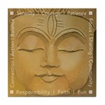 Meditation Tile Coaster