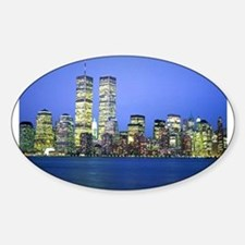 New York City at Night Oval Decal