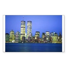 New York City at Night Rectangle Decal