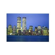 New York City at Night Rectangle Magnet (10 pack)