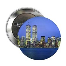 """New York City at Night 2.25"""" Button"""