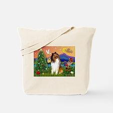 Xmas Fantasy/Collie Tote Bag