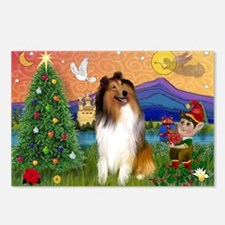 Xmas Fantasy/Collie Postcards (Package of 8)