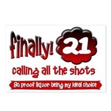 Finally 21 calling all the shots Postcards (Packag