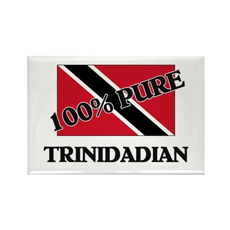 100 Percent TRINIDADIAN Rectangle Magnet