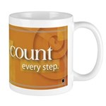 'Count Every Step' Mug