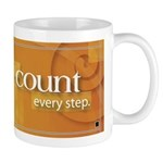 'Count Every Step' Mug