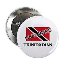 "100 Percent TRINIDADIAN 2.25"" Button"