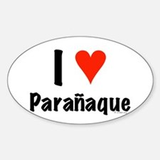 I love Paranaque Oval Decal