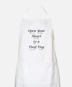Open Your Heart to a Deaf Dog BBQ Apron