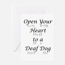 Open Your Heart to a Deaf Dog Greeting Cards (Pack