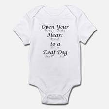Open Your Heart to a Deaf Dog Infant Creeper