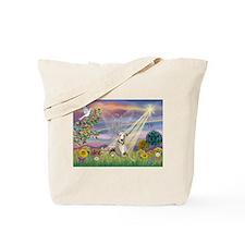 Cloud Angel & Whippet Tote Bag