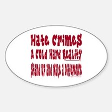 Hate Crimes Oval Decal
