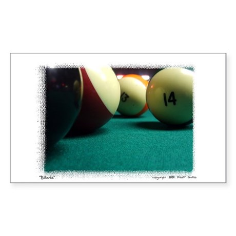 """Billiards"" Rectangle Sticker"
