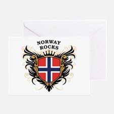Norway Rocks Greeting Card