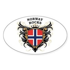 Norway Rocks Oval Decal