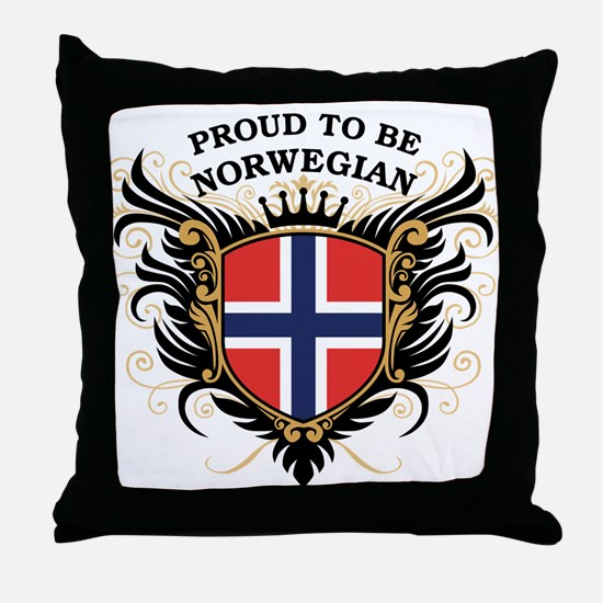 Proud to be Norwegian Throw Pillow