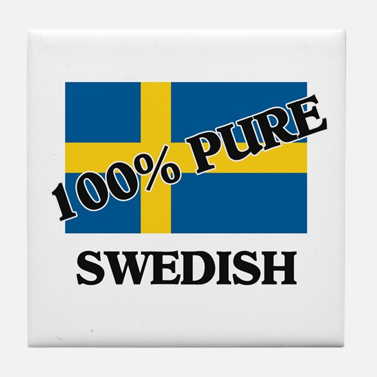 100 Percent SWEDISH Tile Coaster