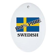 100 Percent SWEDISH Oval Ornament