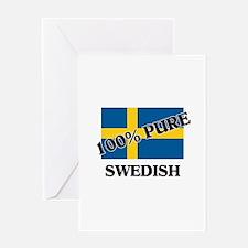 100 Percent SWEDISH Greeting Card