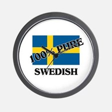 100 Percent SWEDISH Wall Clock