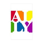 Ally Pop Rectangle Sticker 50 pk)