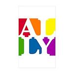 Ally Pop Rectangle Sticker 10 pk)