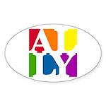 Ally Pop Oval Sticker (10 pk)