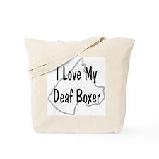 I Love My Deaf Boxer Tote Bag