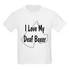 I Love My Deaf Boxer Kids T-Shirt