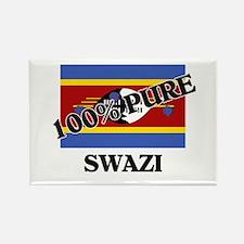 100 Percent SWAZI Rectangle Magnet