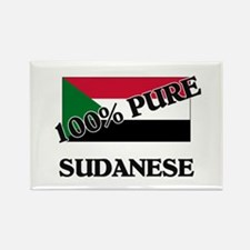 100 Percent SUDANESE Rectangle Magnet